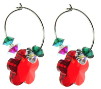 Christmas Hoop Earrings