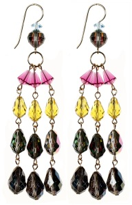 Crystal earrings by Karen Curtis NYC