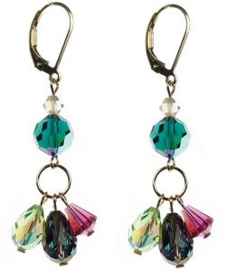 triple drop earrings all swarovski crystal Karen Curtis