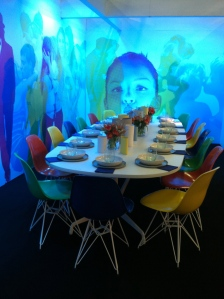 Cool video images projected onto the walls and having all the different colored chairs was so playful.