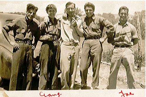 The Yarrow gang including joseph yarrow from massachusetts 1940's photograph