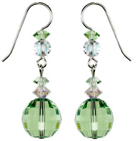 $95 - ChessBoard Facets - Peridot Dangle Earrings